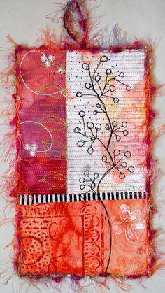 Mini Collage Art Quilt by StegArt on Etsy, $50.00