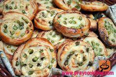 Fresh Asparagus and Puff Pastry Pinwheels recipe