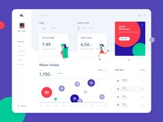 Health dashboard illustration activity designed by Taras Migulko. Connect with them on Dribbble; the global community for designers and creative professionals. Web Dashboard, Ui Web, Dashboard Design, Design Web, Design Sites, Site Design, Graphic Design, Route Tracker, Daily Activities
