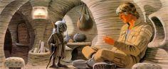 Luke and Yoda by Ralph McQuarrie