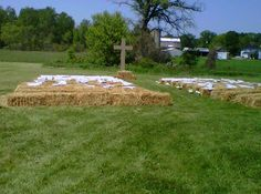 strawhay bale covers ceremony decorations