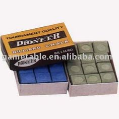 Chalk sets, Pool cue chalks, Billiard chalks, Billiard accessories.