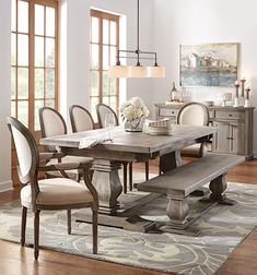 Fit as many guests as comfortably possible with n extendable dining table. HomeDecorators.com #12DaysofDeals2015 #dining