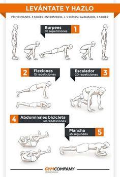 Tabla de ejercicios para tonificar abdominales | GymCompany | Blog de Gymcompany