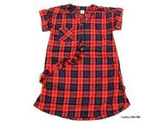 Molo klänning Celina röd/blå rutig