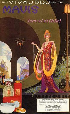 Fred Packer, Vivaudou Mavis Face Powder Ad, 1920s by Gatochy, via Flickr