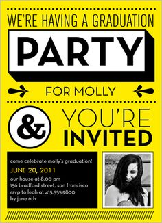 What A Party Graduation Invitation