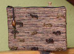 Brown handbag  clutch bag handwoven purse  by VeselinkaHandmade