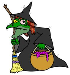 Learn how to draw cartoon witches - ones that wear black capes and hats, carry magical flying broomsticks and cook in cauldrens, in this simple step by step drawing lesson.