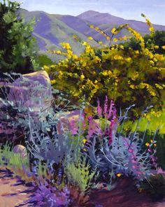 botanic20 Spring Foothills acrylic 30 x 24 inches Marcia Burtt