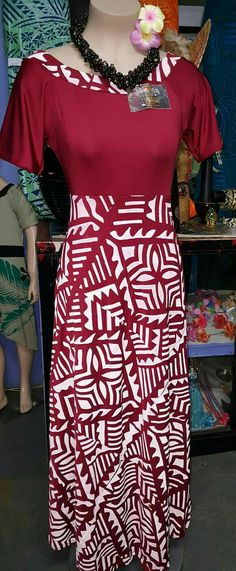 Samoan style New Dress Pattern, Dress Patterns, Samoan Dress, Island Wear, Dress Attire, Special Dresses, Designer Dresses, Latest Styles, Fashion Dresses