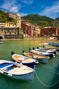 Photo of the fishing port of Manarola, Cinque Terre National Park, Liguria, Italy Best Places To Travel, Cool Places To Visit, Cinque Terre Italy, Lake Pictures, Italy Travel, Italy Vacation, Color Of Life, Places Around The World, World Heritage Sites