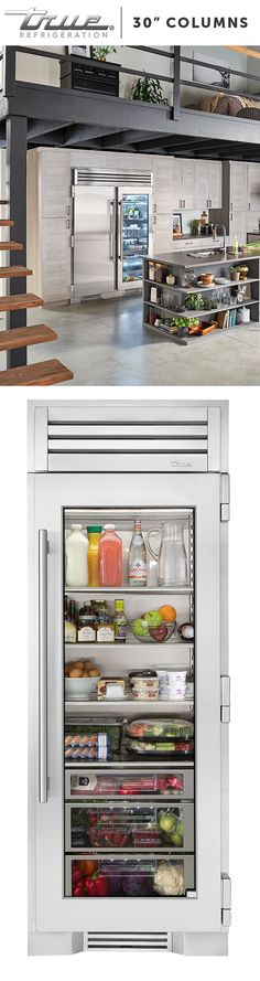 The Glass Door Refrigerator Column offers homeowners the freedom to design kitchens that look the way they want and, as importantly, reflect the way they live. Kitchen And Bath, New Kitchen, Kitchen Dining, Kitchen Ideas, Glass Door Refrigerator, My New Room, Decoration, Home Projects, Home Kitchens