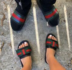 Gucci slipper - Men or Women Fashion slides Cute Sandals, Cute Shoes, Me Too Shoes, Shoes Sandals, Shoes Sneakers, Gucci Slipper, Fashion Slides, Cute Slippers, Fresh Shoes