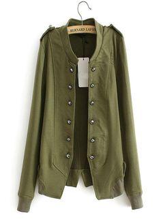 Uniform wind double-breasted cardigan coat