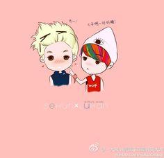 Sehun and Luhan!