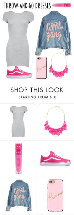 """""""Throw And Go Dresses - Entry"""" by jadee03 ❤ liked on Polyvore featuring Boohoo, George J. Love, Jeffree Star, Vans, High Heels Suicide and Casetify"""