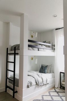 Bunk beds design and room ideas. Most amazing bunk beds for kids. Designing bunk beds that you might like. Bunk Beds For Girls Room, Adult Bunk Beds, Bunk Bed Rooms, Bunk Beds With Stairs, Twin Bunk Beds, Kid Beds, Bunk Beds For Adults, Girls Bedroom, Bunk Bed Decor