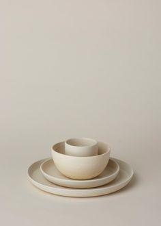 Kati Von Lehman 4 pc Place Setting (White Stoneware)