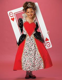 queen of hearts costume kids diy | Queen of Hearts Child Costume This is sooo cute!