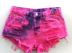 I'm I too old for hot pink and purple tie-dye shorts?