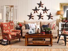 Living Room Design With Americana Home Decor More Americana Home Decor
