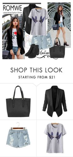 """""""romwe (2) 5"""" by aida-1999 ❤ liked on Polyvore featuring LE3NO and Topshop"""