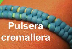 Pulsera de gomitas de cremallera. Zipper plastic lace Bracelet