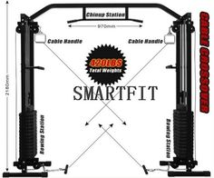 wheels Gym/Fitness Equipment Heavy Duty Cable Cross Over Machine