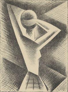 Josef Capek - In front of mirror 1918 Illustrators, Cubism, Image, Abstract Artwork, Art, Lithography, Magic Realism, Figurative Art, Love Art