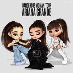 My top 3 favourite outfits from the dangerous woman tour ❤.by @kambachfluff ⠀ ⠀⠀ ⠀⠀ #ArianaGrande #arianagrandedrawing #ArianaGrandeArt #DWT #DangerousWomanTour