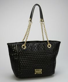 Take a look at this Black Patent Quilted Tote by Kenneth Cole Reaction on #zulily today!