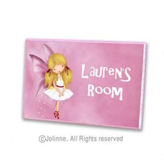 Angel fairy initial door hanger personalized children by jolinne, $19.00