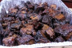 Smoked Chuck Roast Burnt Ends - Smoking Meat Newsletter - These smokey delicious, gooey, tender and tasty burnt ends made from smoked chuck roast and are to - Chuck Roast Recipes, Pork Rib Recipes, Traeger Recipes, Smoked Meat Recipes, Grilling Recipes, Grilling Ideas, Catering Recipes, Venison Recipes, Bbq Ideas