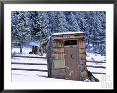 Outhouse at Elkhorn Ghost Town, Montana