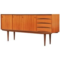 Mid Century Teak Sideboard by Fredrik Kayser for Bahus, Norway | From a unique collection of antique and modern sideboards at https://www.1stdibs.com/furniture/storage-case-pieces/sideboards/