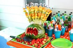 Our version of the melon monster :) Monster Party theme #monsterparty