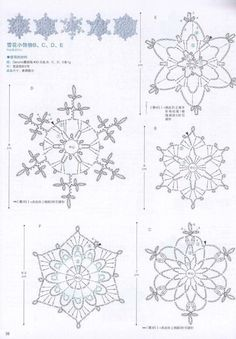 The snowflakes crochet pattern is a good guideline to knit the crochet products. There are some crochet patterns that can be chosen for knitting. Every crochet pattern is like a magical pattern and motif. Free Crochet Snowflake Patterns, Crochet Stars, Crochet Snowflakes, Doily Patterns, Thread Crochet, Crochet Crafts, Crochet Doilies, Crochet Flowers, Crochet Patterns