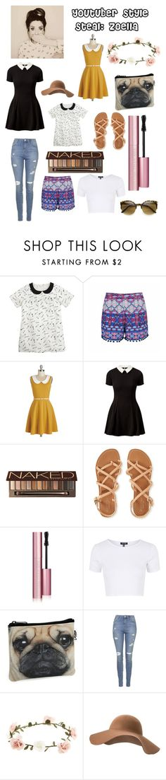 """""""YouTuber Style Steal: Zoella"""" by unicorngirl99 ❤ liked on Polyvore featuring Ally Fashion, Cameo Rose, Urban Decay, Aéropostale, Too Faced Cosmetics, Topshop, Catseye London, Accessorize, MANGO and Retrò"""