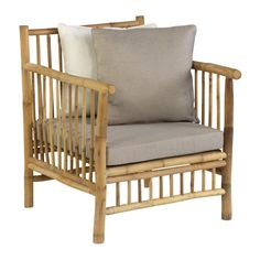 Exotan Bamboo is a sturdy and durable material. Each item is unique. The items include cushions. This series consists of a daybed, sofa without backrest, lounge sofa, lounge chair and a coffee table. Garden Chairs, Garden Furniture, Outdoor Furniture, Public Seating, Outdoor Chairs, Outdoor Decor, Lounge Sofa, Upholstered Furniture, Indoor Air Quality