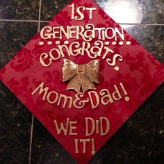 First generation grad cap! So cute, even though I'm not the first :)