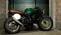 Ducati Supersport 600. Great seat and tank. The green color with the brown leather is perfect.