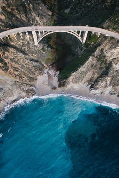 Top down, music blasting. The only way to cruise Highway 1. Aerial Photography, Nature Photography, Amazing Photography, Bixby Bridge, Pacific Coast Highway, Highway 1, Phantom 4, Visit California, Northern California