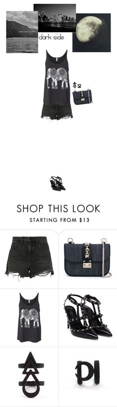 """""""dark side"""" by blueeyed-dreamer ❤ liked on Polyvore featuring Alexander Wang, Valentino, black, valentino, denimbag and polyvorecontest"""