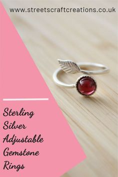 Gorgeous sterling silver adjustable ring a bands set with a variety of different gemstones. They make the most perfect gift and no need to worry about the sizing!  #handmadejewellery #rings #gemstonejewellery #sterlingsilverjewellery #gifts Sterling Silver Jewelry, Gemstone Jewelry, Adjustable Ring, Bands, Handmade Jewelry, Jewelry Making, Gift Ideas, Gemstones, Gifts