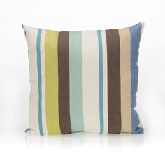 Liam Stripe Cotton Throw Pillow