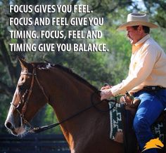 Focus, feel and timing give you balance. Check out Geneviève Benoit, Licensed #Parelli 3-Star Instructor at www.vifargent.com