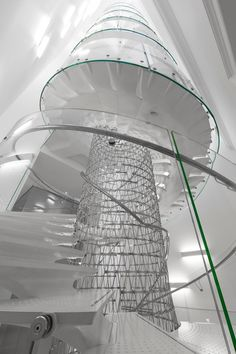 Somerset House Staircase design Eva Jiricna molded in Italy by Il Cantiere.