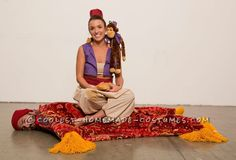 Every Aladdin Needs a Carpet Couple Halloween Costume... This website is the Pinterest of costumes