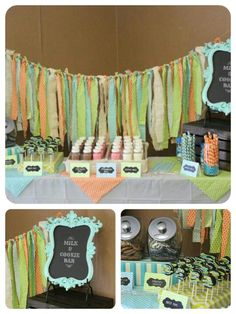 Milk and cookie bar. First birthday party.